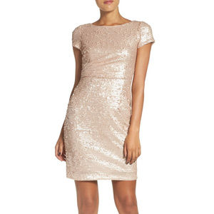 NWT Adrianna Papell Sequin Sheath Dress